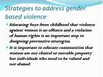 strategies to address gender based violence1