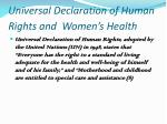 universal declaration of human rights and women s health