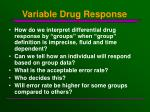 variable drug response