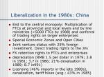 liberalization in the 1980s china