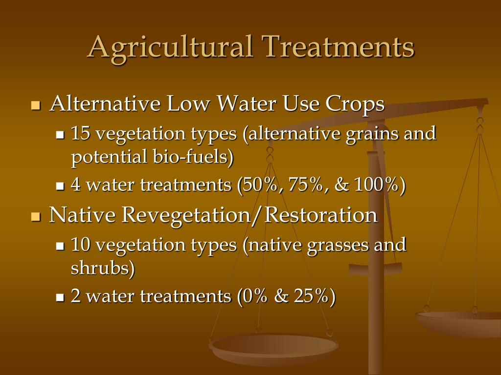 Agricultural Treatments
