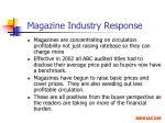 magazine industry response