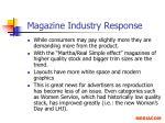 magazine industry response10