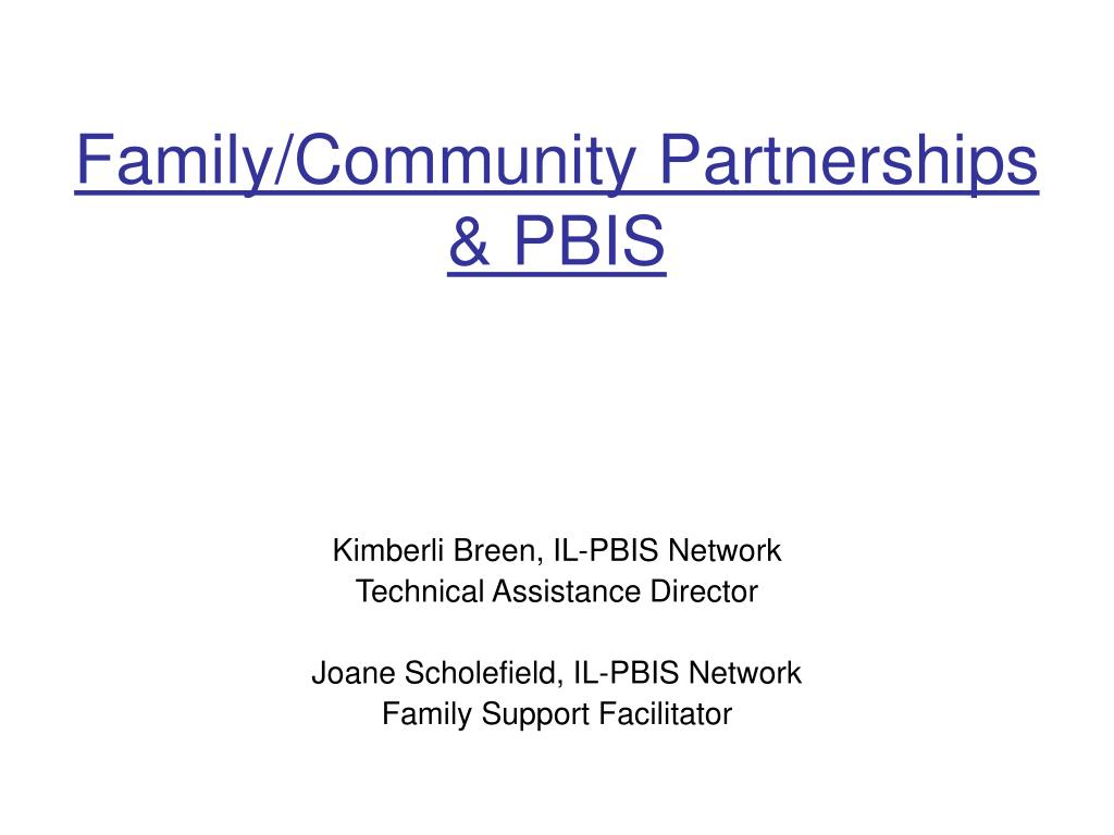 family community partnerships pbis l.