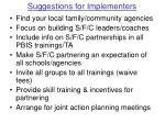 suggestions for implementers