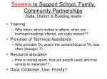 systems to support school family community partnerships state district building levels