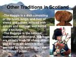 other traditions in scotland