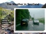 the weather in scotland