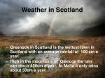 weather in scotland