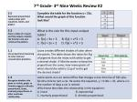 7 th grade 3 rd nine weeks review 23