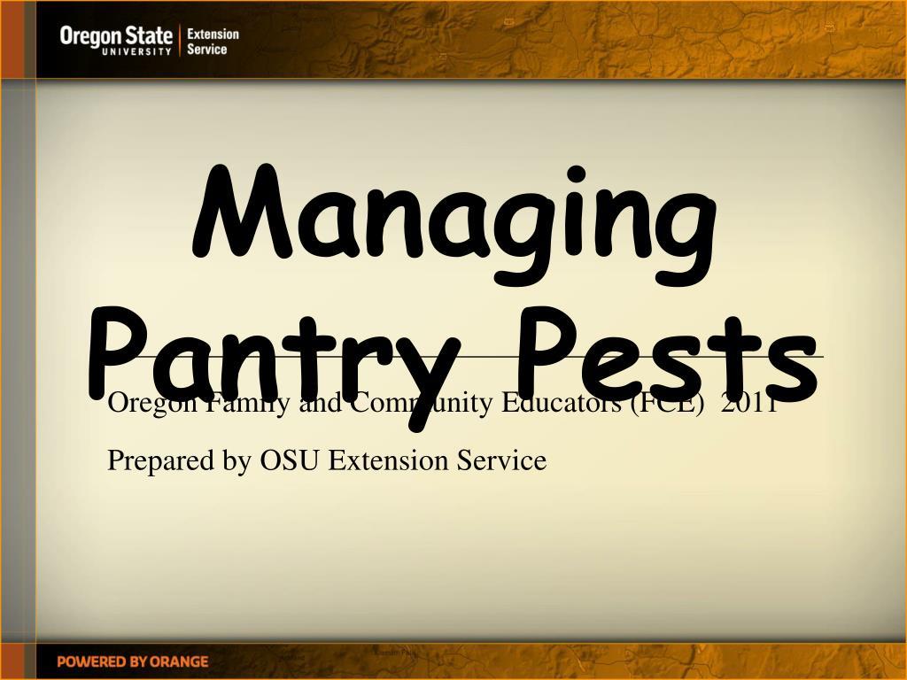managing pantry pests l.
