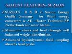 salient features suzlon