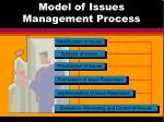 model of issues management process