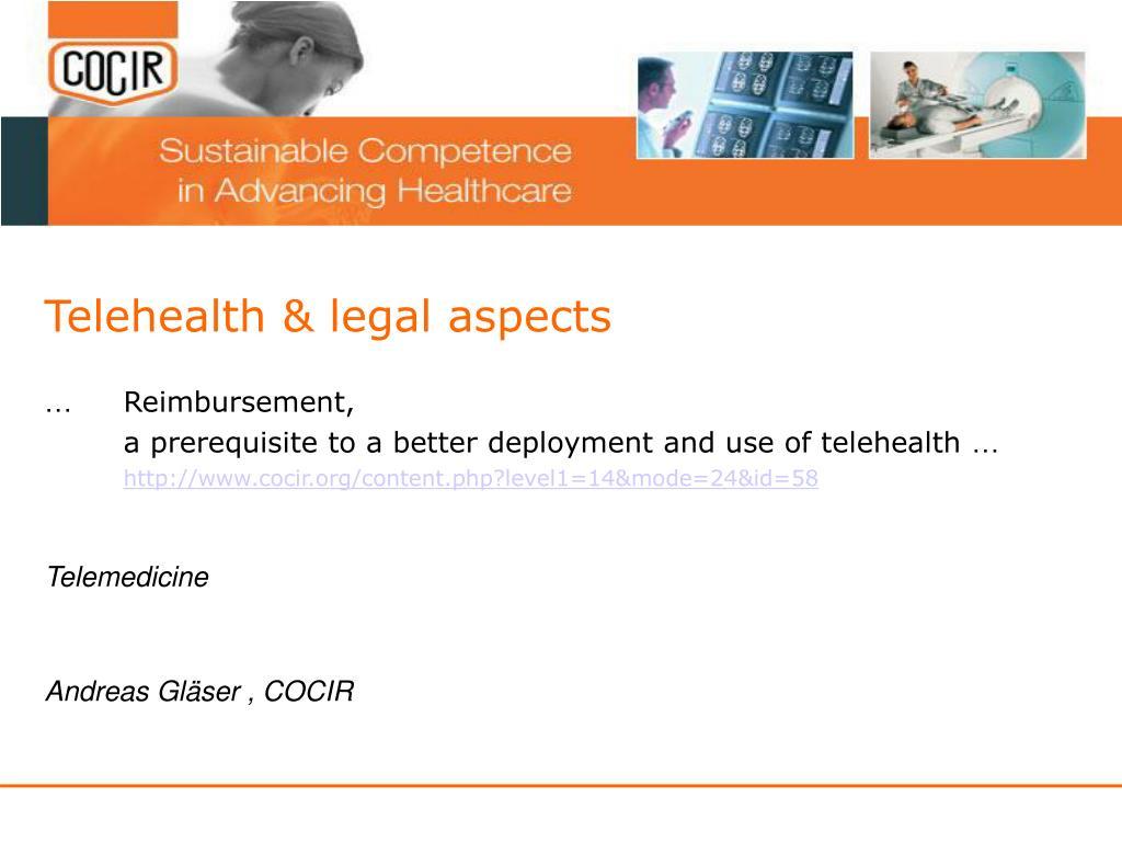 telehealth legal aspects l.