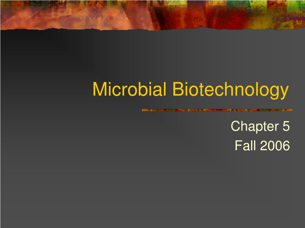 microbial biotechnology l.
