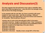analysis and discussion 3