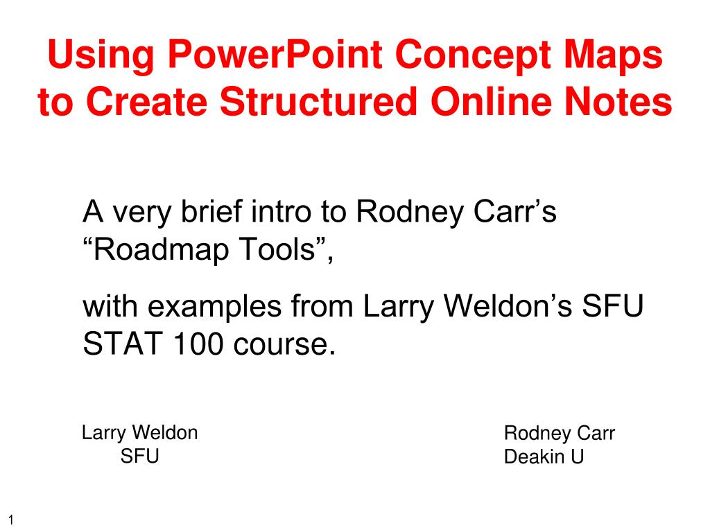 using powerpoint concept maps to create structured online notes l.