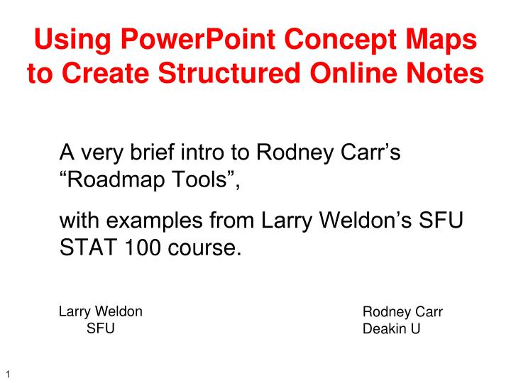using powerpoint concept maps to create structured online notes n.