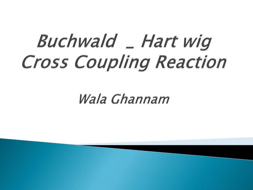 buchwald hart wig cross coupling reaction wala ghannam l.