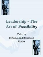 leadership the art of possibility
