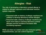allergies risk