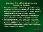 minimizing risk minimizing exposure engineering solutions