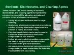 sterilants disinfectants and cleaning agents