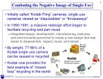 combating the negative image of single use
