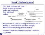 kodak s platform strategy