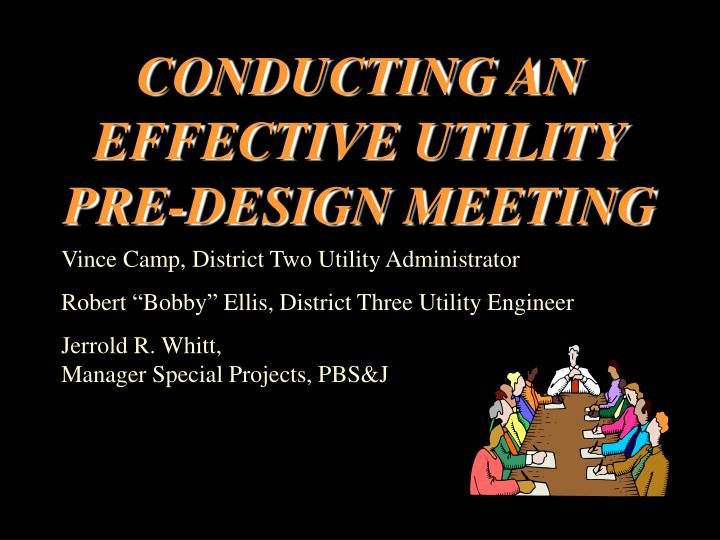 conducting an effective utility pre design meeting n.