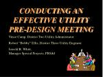 conducting an effective utility pre design meeting