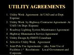 utility agreements