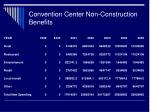 convention center non construction benefits