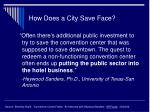 how does a city save face