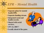 epr mental health