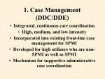 1 case management ddc dde