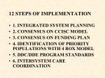 12 steps of implementation