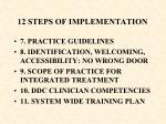 12 steps of implementation78