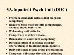 5a inpatient psych unit ddc