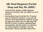 6b dual diagnosis partial hosp and day rx dde