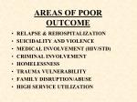 areas of poor outcome