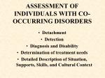 assessment of individuals with co occurring disorders