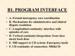 b1 program interface