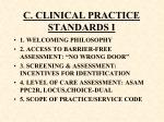 c clinical practice standards i