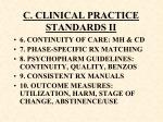 c clinical practice standards ii