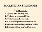 d clinician standards110