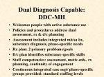 dual diagnosis capable ddc mh