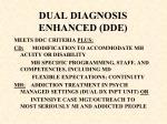 dual diagnosis enhanced dde