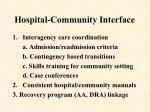 hospital community interface