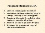 program standards ddc